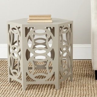 Safavieh Natanya Pearl Taupe Side Table