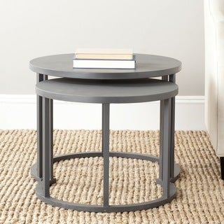 Safavieh Chindler Charcoal Grey Nesting Tables (Set of 2)