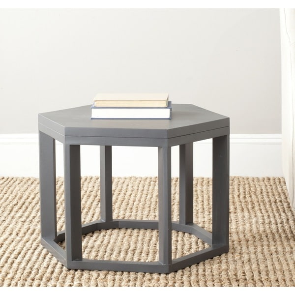 Safavieh Heidi Charcoal Grey End Table