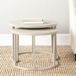 Safavieh Chindler Pearl Taupe Nesting Tables (Set of 2)
