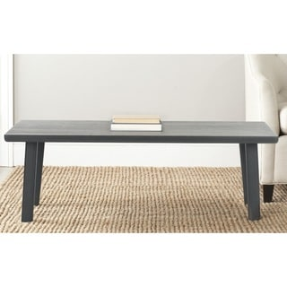 Safavieh Rocco Charcoal Grey Bench