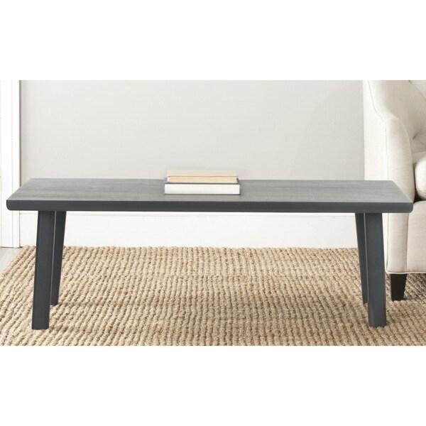 Safavieh Rocco Charcoal Grey Bench