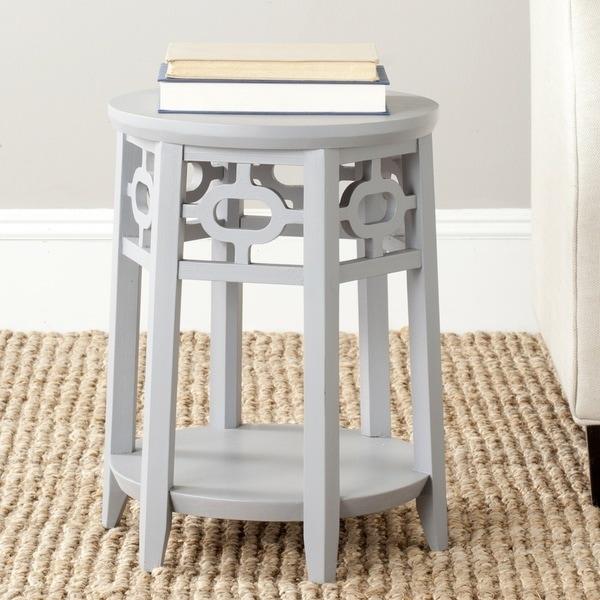 Safavieh Adela Pearl Blue Grey Side Table