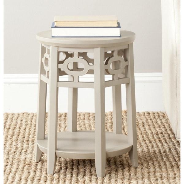 Safavieh Adela Pearl Taupe Side Table
