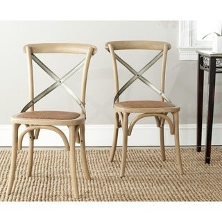 Safavieh Country Classic Dining Eleanor Oak X-Back Side Chairs (Set of 2)