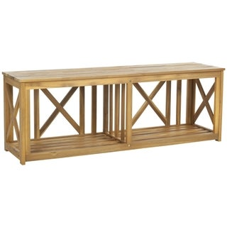 Safavieh Outdoor Branco Teak Bench