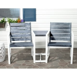 Safavieh Outdoor Jovanna White and Grey Bench