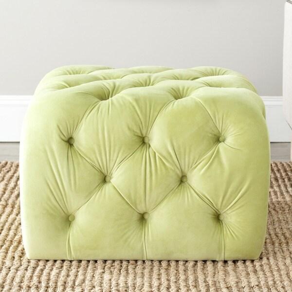 Safavieh Kenan Lime Green Ottoman