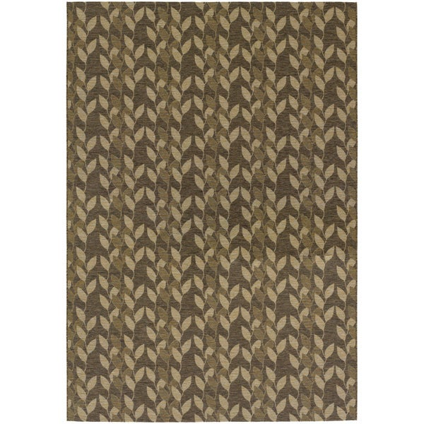 Dolce Piccolo/ Brown-Gold Area Rug (4' x 5'10)