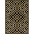 Dolce Napoli/ Black-Gold Area Rug (5'3 x 7'6)