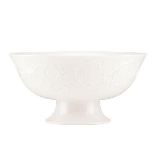 Opal Innocence Carved Footed Serving Bowl