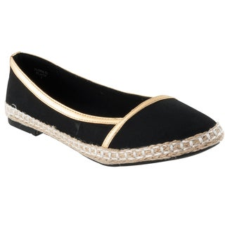 Black Riverberry Women's 'Flora' Microsuede Casual Flats