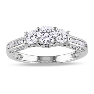Miadora 14k White Gold 1ct TDW Diamond 3-stone Ring (G-H, I1-I2)