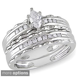 Miadora 10k Gold 2/5ct TDW Diamond Bridal Ring Set (G-H, I1-I2)
