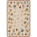 Outdoor Escape Coral Dive Sand Area Rug (3'6 x 5'6)
