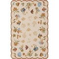 Outdoor Escape Coral Dive/ Sand Area Rug (8' x 11')