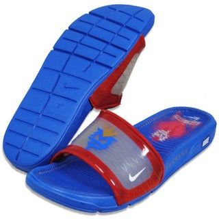 Nike Men's 'Highwire' Manny Pacquiao Blue/ Red Slides
