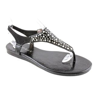 Rampage Women's Black 'Wilma' Man-Made Sandals