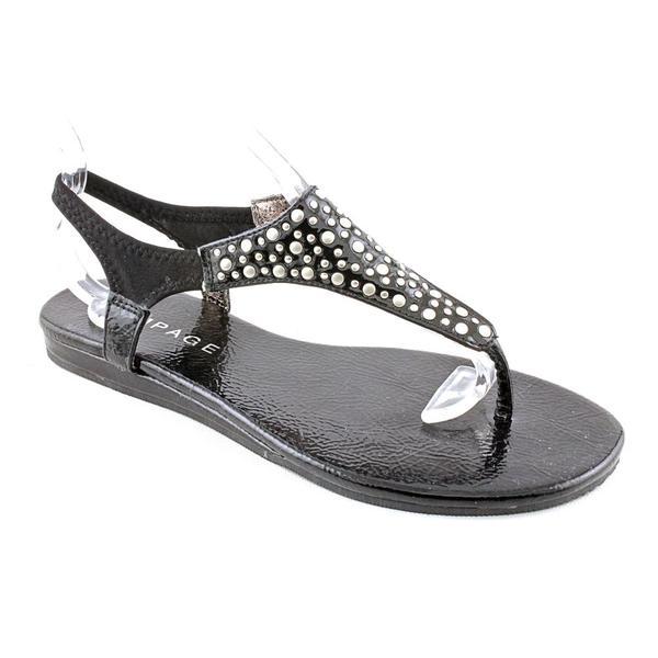 Rampage Women's Black 'Wilma' Man-Made Sandals