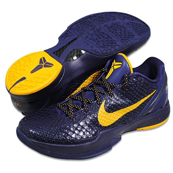 Nike Men's 'Zoom Kobe VI' Purple/ Yellow Basketball Shoes
