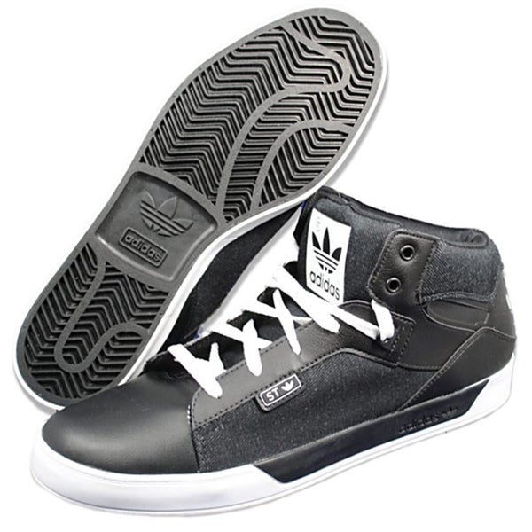 Adidas Men's 'Attitude Vulc' Black/ White Athletic Shoes