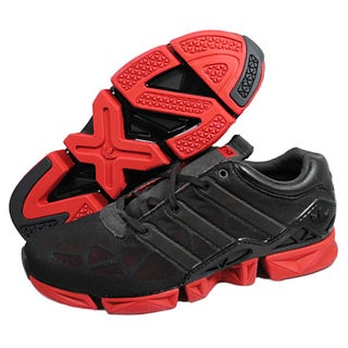 Adidas Men&#39;s &#39;H3 ZXZ&#39; Black/ Red Running Shoes