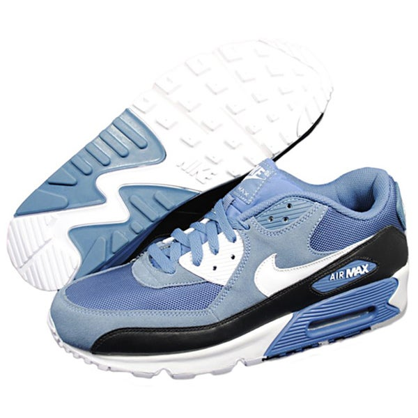 Nike Men's Air Max 90 Blue and White Running Shoes