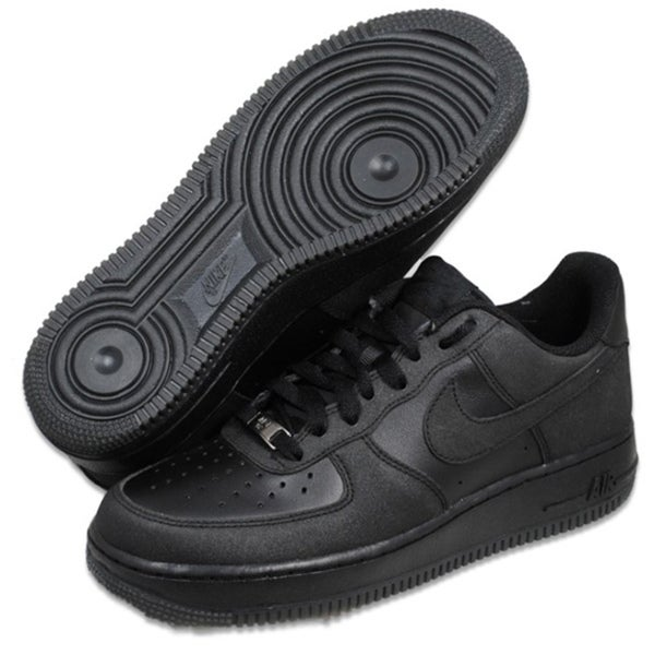 Nike Men's Air Force 1 '07 Black Basketball Shoes