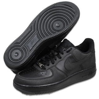 Nike Men&#39;s Air Force 1 &#39;07 Black Basketball Shoes