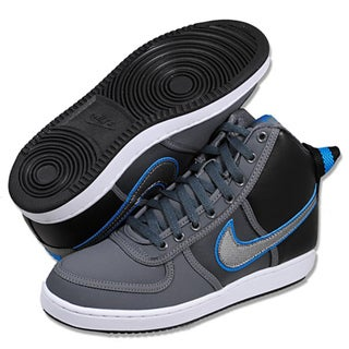 Nike Men's 'Vandal High' Grey and Teal Basketball Shoes