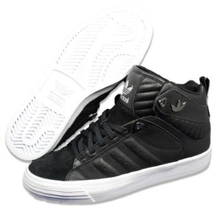 Adidas Men&#39;s &#39;Freemont&#39; Mid Black and White Athletic Shoes