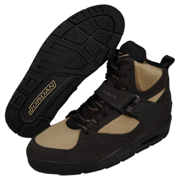 Nike Men's 'Jordan Flight 45 TRK' Tan/ Brown Leather Boots
