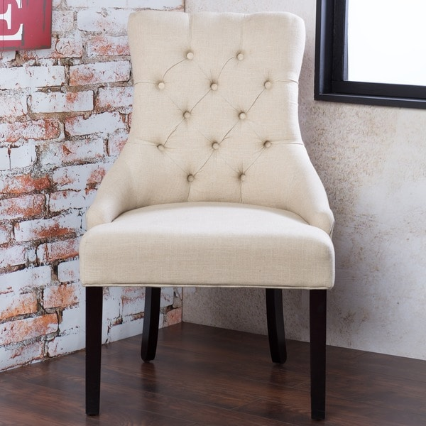 Furniture of America Bielson Tufted Ivory Accent-Dining Chair (Set of 2)
