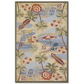 Outdoor Escape Pacific Heights/ Ocean Rug (5'6 x 8')