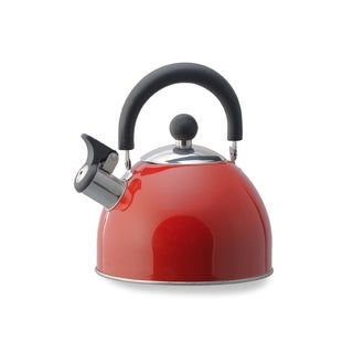 Kamenstein 2-quart Red Whisling Tea Kettle