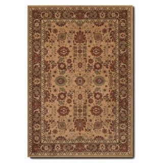 Pera All Over Mashhad Fawn Rug (7'10 x 11'2)
