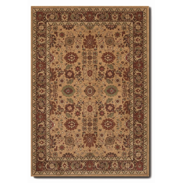 Pera All Over Mashhad Fawn Rug (7'10 x 11'2)