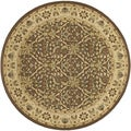 Pera Birjand Chocolate Brown Rug (7'10 Round)
