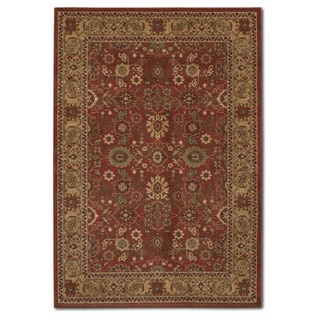 Pera All Over Mashhad Crimson Rug (7'10 x 11'2)