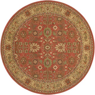 Pera All Over Mashhad Crimson Rug (7'10 Round)
