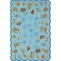 Outdoor Escape Coral Dive/ Aqua Rug (8' x 11')