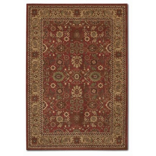Pera All Over Mashhad Crimson Rug (3'9 x 5'2)