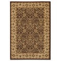 Pera Birjand Chocolate Brown Rug (3'9 x 5'2)