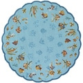 Outdoor Escape Coral Dive/ Aqua Rug (7'10 Round)