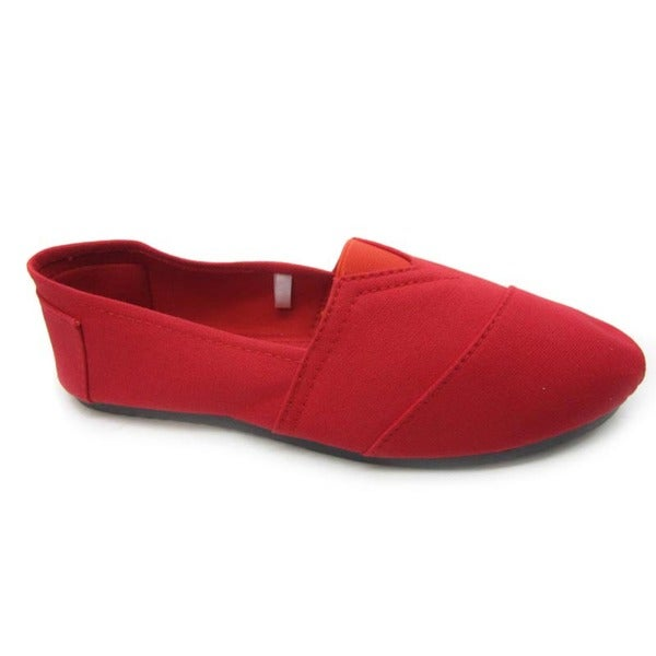 Blue Women's 'Timmy' Red Canvas Wrapped Flats