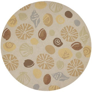 Outdoor Escape Barnegat Bay/ Sand Rug (7'10 Round)