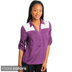 Stanzino Women's Two-tone Button-front Top