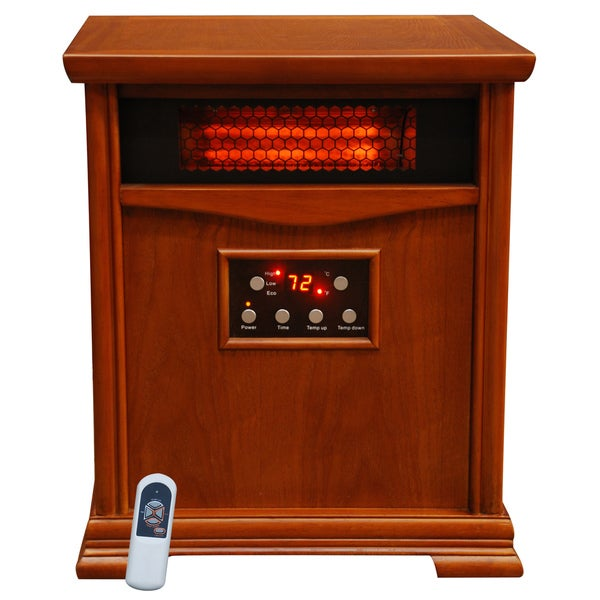 Lifesmart 6 Element 1800 Square Foot Cabinet Heater with Remote