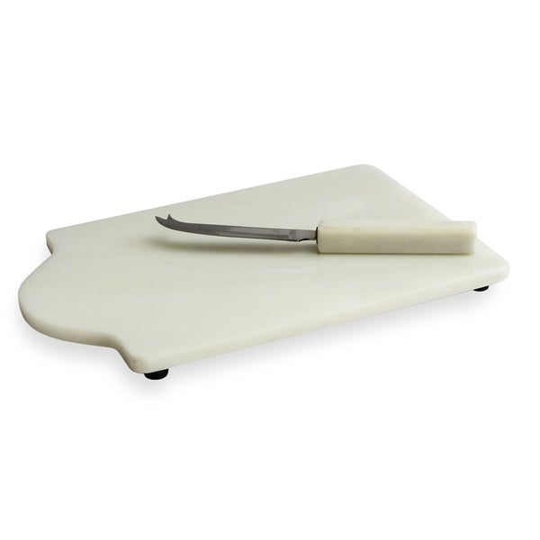 American Atelier Marble Cutting Board with Knife