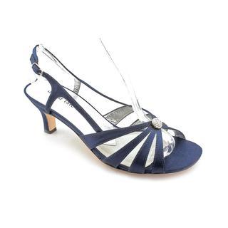 David Tate Women's 'Rosette' Satin Dress Shoes - Extra Wide (Size 8)